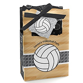 Bump, Set, Spike - Volleyball - Personalized Party Favor Boxes - Set of 12