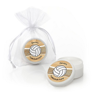 Bump, Set, Spike - Volleyball - Personalized Party Lip Balm Favors - Set of 12