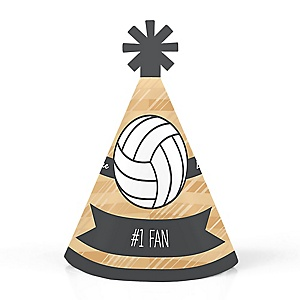 Bump, Set, Spike - Volleyball - Personalized Mini Cone Baby Shower or Birthday Party Hats - Small Little Party Hats - Set of 10