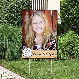 Bump, Set, Spike - Volleyball - Photo Yard Sign - Baby Shower or Birthday Party Decorations
