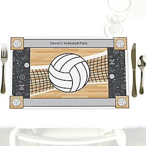 Bump, Set, Spike - Volleyball - Personalized Party Placemats
