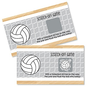 Bump, Set, Spike - Volleyball - Personalized Party Game Scratch Off Cards - 22 ct