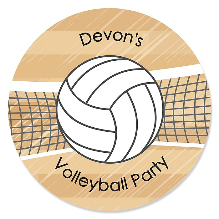 Bump, Set, Spike - Volleyball - Personalized Party Sticker Labels - 24 ct