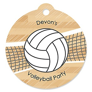 Bump, Set, Spike - Volleyball - Round Personalized Party Tags - 20 ct