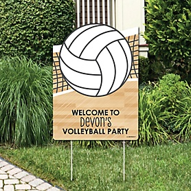 Bump, Set, Spike - Volleyball - Party Decorations - Birthday Party or Baby Shower Personalized Welcome Yard Sign