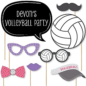 Bump, Set, Spike - Volleyball - Baby Shower Photo Booth Props Kit - 20 Props