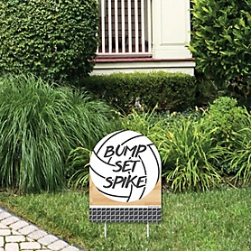 Bump, Set, Spike - Volleyball - Outdoor Lawn Sign - Baby Shower or Birthday Party Yard Sign - 1 Piece