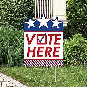 Vote Here - Party Decorations – Political 2020 Election Day Welcome Yard Sign