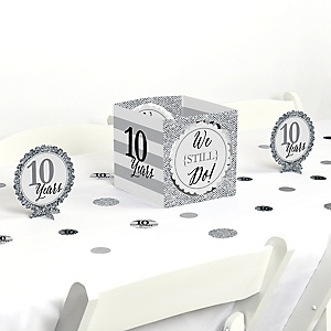 We Still Do - 10th Wedding Anniversary - Anniversary Party Centerpiece and Table Decoration Kit