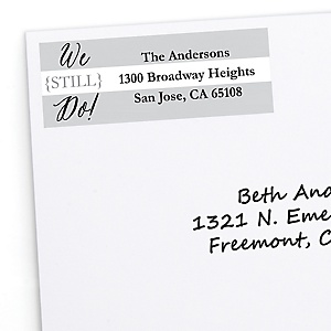 We Still Do - 10th Wedding Anniversary - Personalized Wedding Anniversary Return Address Labels - 30 ct