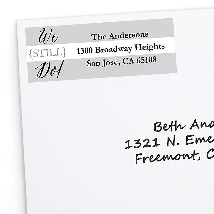 We Still Do - 10th Wedding Anniversary - Personalized Wedding Anniversary Return Address Labels - 30 ct