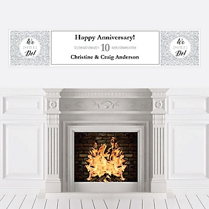 We Still Do - 10th Wedding Anniversary - Personalized Wedding Anniversary Banner
