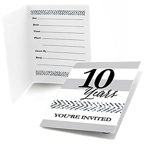We Still Do - 10th Wedding Anniversary - Fill In Wedding Anniversary Invitations - 8 ct