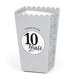 We Still Do - 10th Wedding Anniversary - Personalized Wedding Anniversary Popcorn Favor Treat Boxes - Set of 12