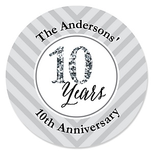 We Still Do - 10th Wedding Anniversary - Personalized Wedding Anniversary Sticker Labels - 24 ct
