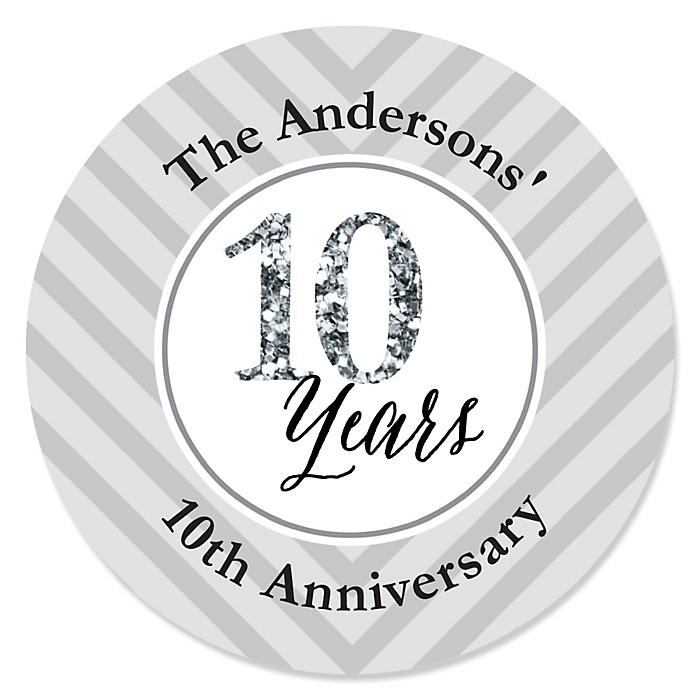 We Still Do - 10th Wedding Anniversary - Personalized Wedding Anniversary Sticker Labels - 24 ct