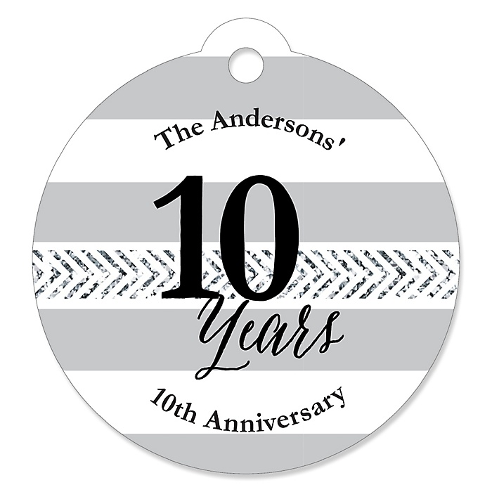 We Still Do - 10th Wedding Anniversary - Personalized Wedding Anniversary Tags - 20 ct