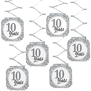 We Still Do - 10th Wedding Anniversary Hanging Decorations - 6 ct