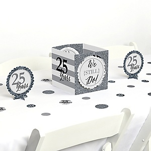 We Still Do - 25th Wedding Anniversary - Anniversary Party Centerpiece and Table Decoration Kit