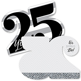 We Still Do - 25th Wedding Anniversary - Shaped Thank You Cards - Anniversary Party Thank You Note Cards with Envelopes - Set of 12