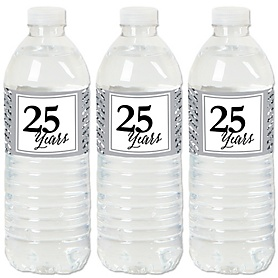 We Still Do - 25th Wedding Anniversary - Anniversary Water Bottle Sticker Labels - Set of 20