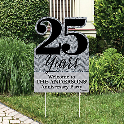 We Still Do 25th Wedding Anniversary Party Decorations Personalized Welcome Yard Sign Dotofhiness