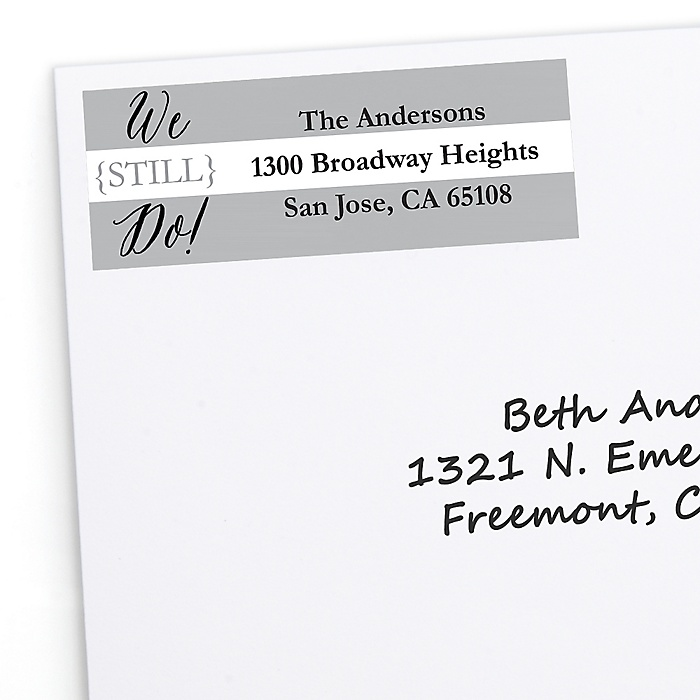 We Still Do - 25th Wedding Anniversary - Personalized Wedding Anniversary Return Address Labels - 30 ct