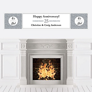 We Still Do - 25th Wedding Anniversary - Personalized Wedding Anniversary Banner