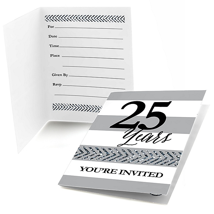 We Still Do - 25th Wedding Anniversary - Fill In Wedding Anniversary Invitations - 8 ct