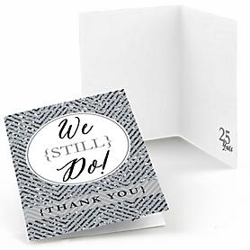 We Still Do - 25th Wedding Anniversary - Wedding Anniversary Thank You Cards - 8 ct