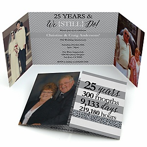 We Still Do - 25th Wedding Anniversary - Personalized Wedding Anniversary Photo Invitations - Set of 12