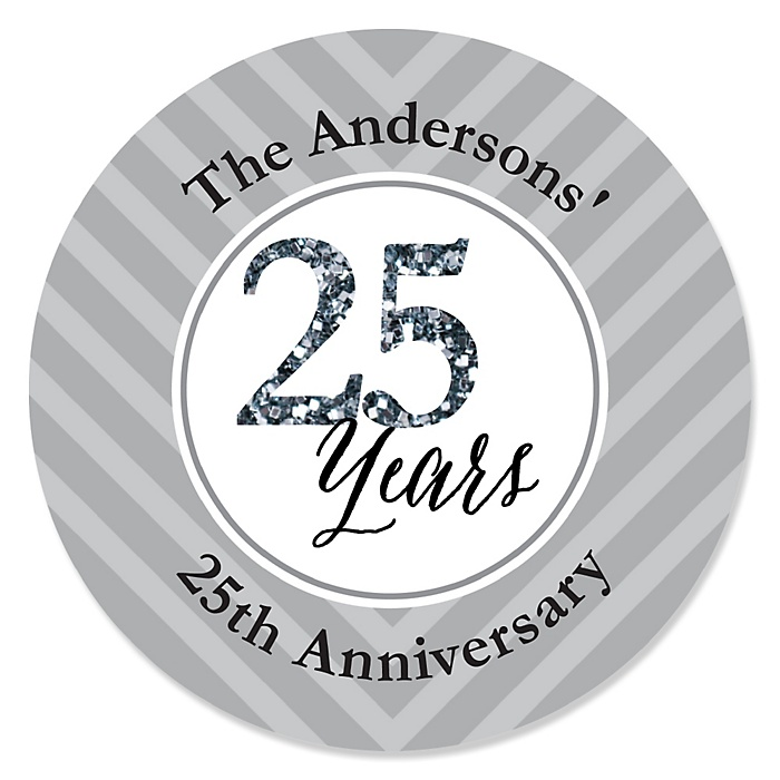 We Still Do - 25th Wedding Anniversary - Personalized Wedding Anniversary Sticker Labels - 24 ct