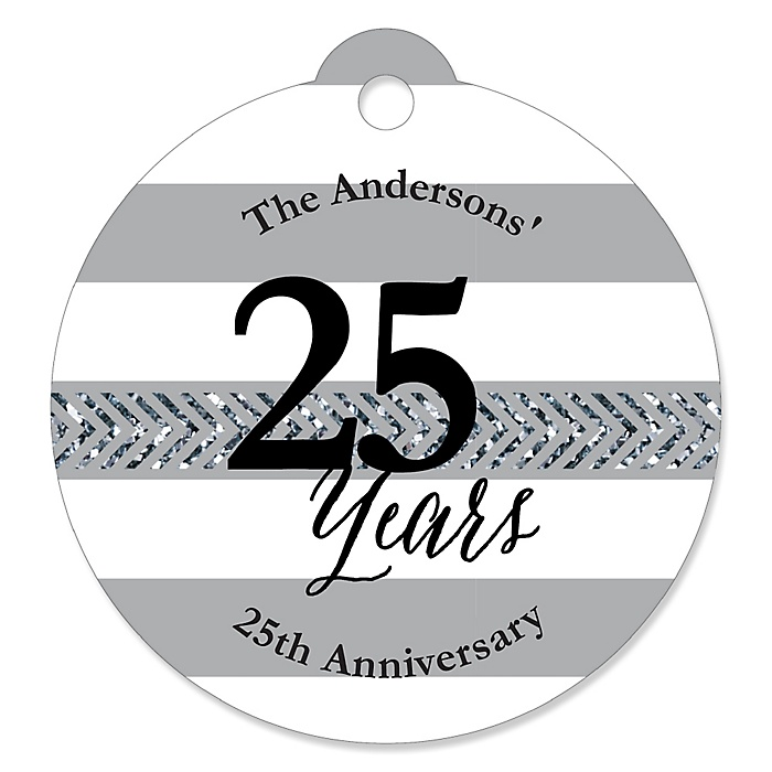 We Still Do - 25th Wedding Anniversary - Personalized Wedding Anniversary Tags - 20 ct