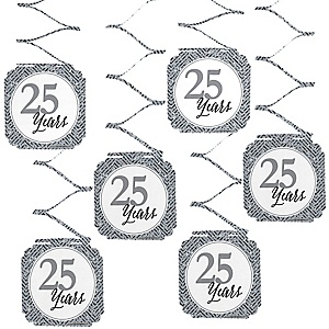 We Still Do - 25th Wedding Anniversary Hanging Decorations - 6 ct