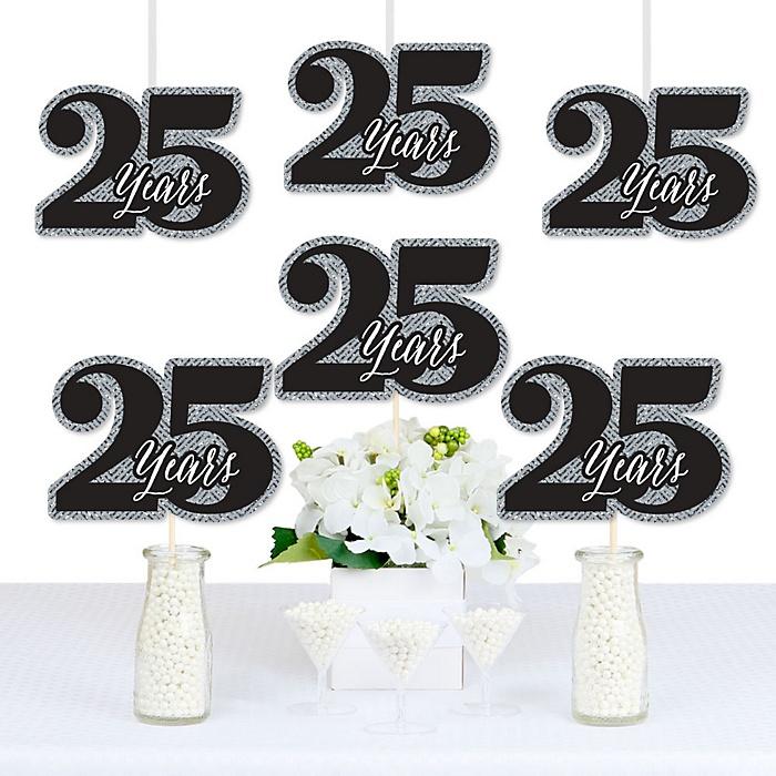 We Still Do - 25th Wedding Anniversary - Decorations DIY Anniversary Party Essentials - Set of 20