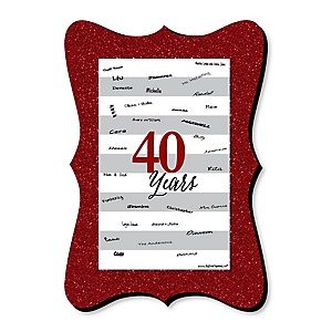 We Still Do - 40th Wedding Anniversary - Unique Alternative Guest Book - 40th Wedding Anniversary Signature Mat