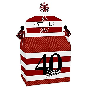 We Still Do - 40th Wedding Anniversary - Treat Box Party Favors - Anniversary Party Goodie Gable Boxes - Set of 12