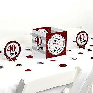 We Still Do - 40th Wedding Anniversary - Anniversary Party Centerpiece and Table Decoration Kit