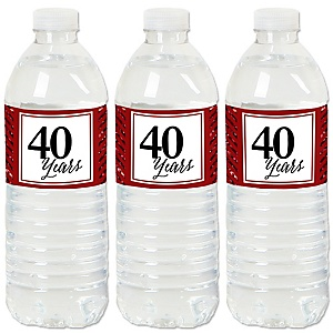 We Still Do - 40th Wedding Anniversary - Anniversary Party Water Bottle Sticker Labels - Set of 20