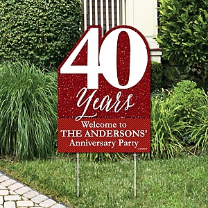 We Still Do - 40th Wedding Anniversary - Party Decorations - Anniversary Party Personalized Welcome Yard Sign