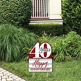 We Still Do - 40th Wedding Anniversary - Outdoor Lawn Sign - Anniversary Party Yard Sign - 1 Piece