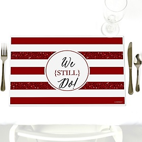 We Still Do - 40th Wedding Anniversary - Party Table Decorations - Wedding Anniversary Placemats - Set of 12