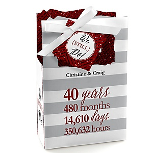 We Still Do - 40th Wedding Anniversary - Personalized Wedding Anniversary Favor Boxes - Set of 12