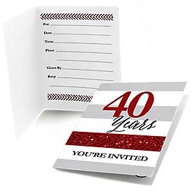 We Still Do - 40th Wedding Anniversary - Fill In Wedding Anniversary Invitations - 8 ct