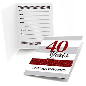 We Still Do - 40th Wedding Anniversary - Fill In Wedding Anniversary Invitations - 8 ct