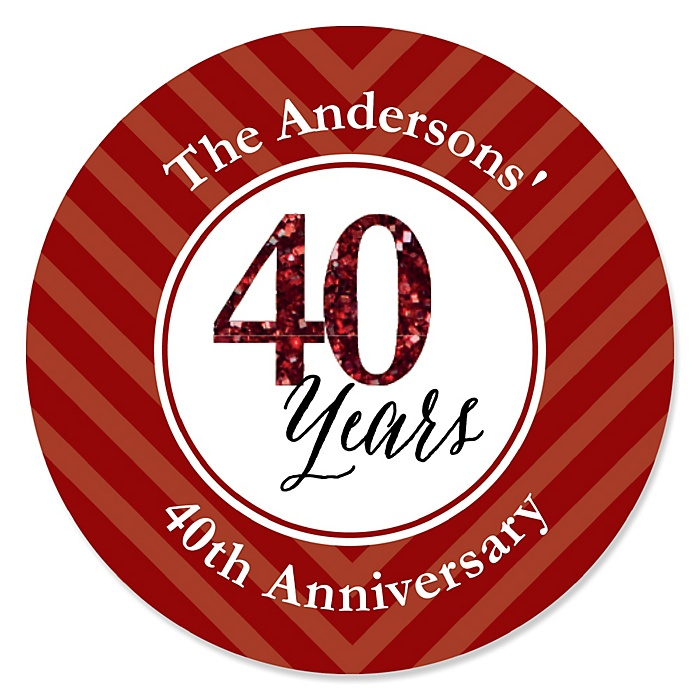 We Still Do - 40th Wedding Anniversary - Personalized Wedding Anniversary Sticker Labels - 24 ct