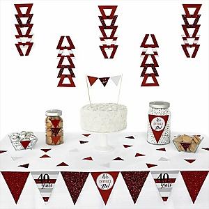We Still Do - 40th Wedding Anniversary -  Triangle Wedding Anniversary Decoration Kit - 72 Piece