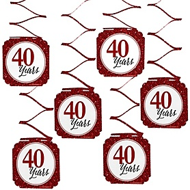 We Still Do - 40th Wedding Anniversary Hanging Decorations - 6 ct