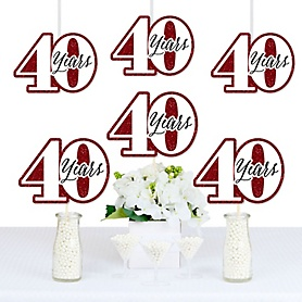 We Still Do - 40th Wedding Anniversary - Decorations DIY Anniversary Party Essentials - Set of 20