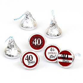 We Still Do - 40th Wedding Anniversary - Round Candy Labels Anniversary Party Favors - Fits Hershey's Kisses - 108 ct